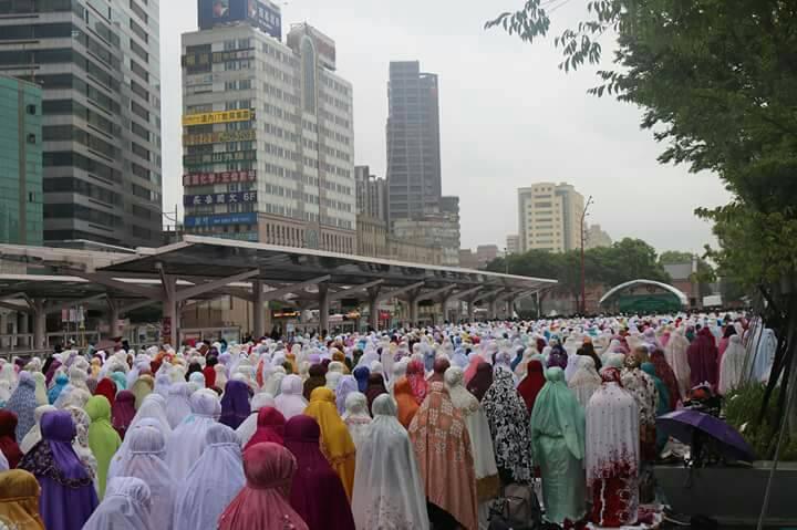 Potret Pelaksanaan Sholat Idul Fitri dari Berbagai Daerah di Taiwan 2018